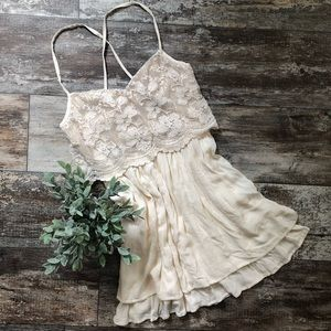 Hollister | Lace Top strappy back dress